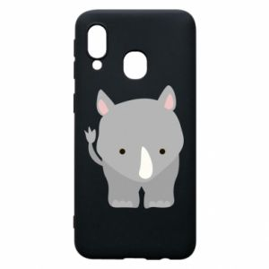 Phone case for Samsung A40 Rhinoceros
