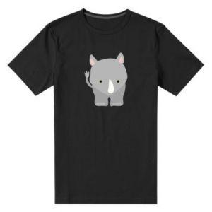 Męska premium koszulka Nosorożec