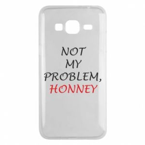 Etui na Samsung J3 2016 Not my problem, honny