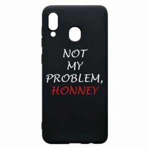 Etui na Samsung A20 Not my problem, honny