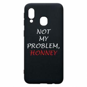 Etui na Samsung A40 Not my problem, honny