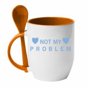 Kubek z ceramiczną łyżeczką Not my problem