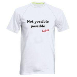 Koszulka sportowa męska Not possible possible