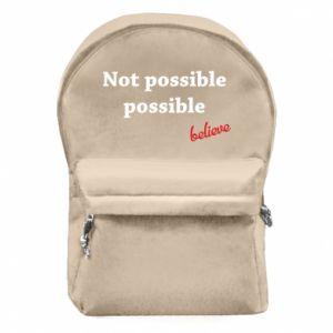 Plecak z przednią kieszenią Not possible possible