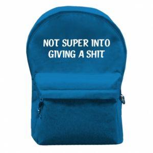 Plecak z przednią kieszenią Not super into giving a shit