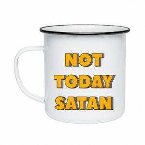 Kubek emaliowany Not today satan