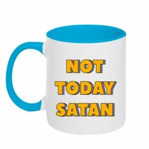 Kubek dwukolorowy Not today satan