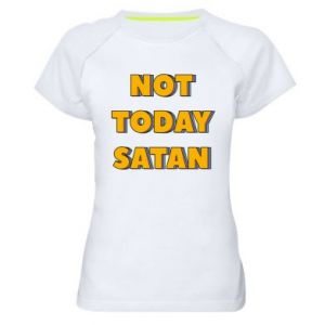 Damska koszulka sportowa Not today satan