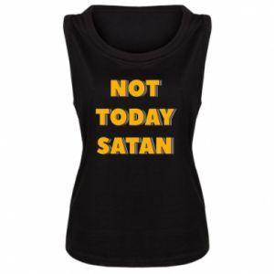 Damska koszulka bez rękawów Not today satan