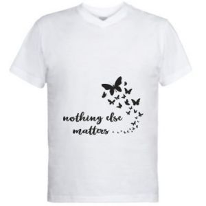 Męska koszulka V-neck Nothing else matter