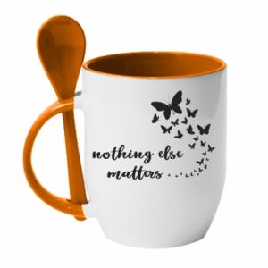 Kubek z ceramiczną łyżeczką Nothing else matter