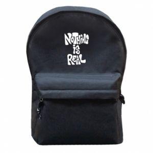 Plecak z przednią kieszenią Nothing is real