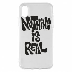 Etui na iPhone X/Xs Nothing is real