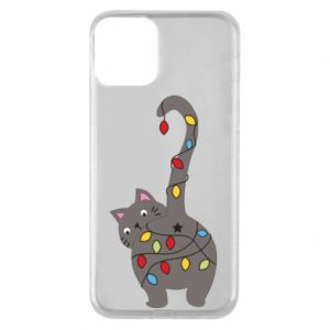 Etui na iPhone 11 Noworoczny kot
