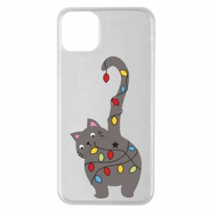 Etui na iPhone 11 Pro Max Noworoczny kot