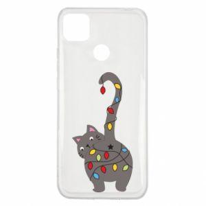 Etui na Xiaomi Redmi 9c Noworoczny kot