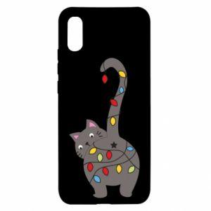 Etui na Xiaomi Redmi 9a Noworoczny kot
