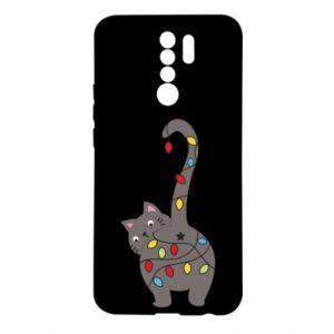 Etui na Xiaomi Redmi 9 Noworoczny kot
