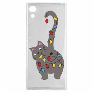 Etui na Sony Xperia XA1 Noworoczny kot