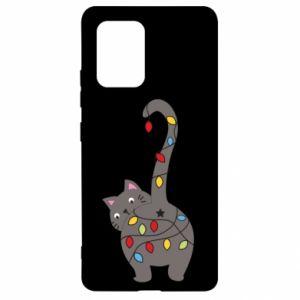 Etui na Samsung S10 Lite Noworoczny kot