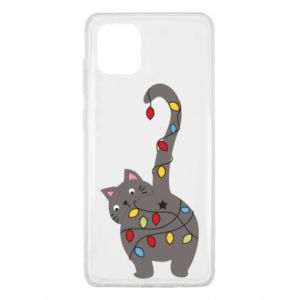 Etui na Samsung Note 10 Lite Noworoczny kot
