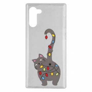 Etui na Samsung Note 10 Noworoczny kot