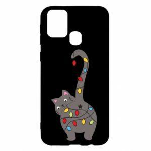 Etui na Samsung M31 Noworoczny kot
