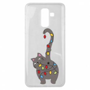 Etui na Samsung J8 2018 Noworoczny kot
