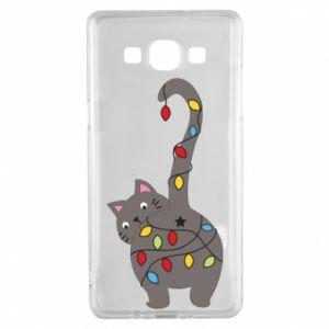 Etui na Samsung A5 2015 Noworoczny kot