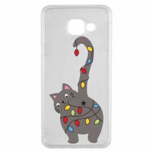 Etui na Samsung A3 2016 Noworoczny kot