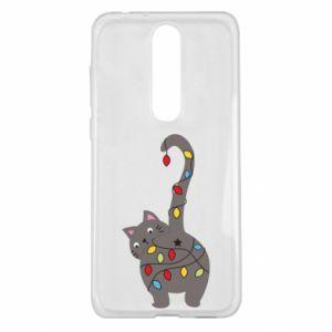 Etui na Nokia 5.1 Plus Noworoczny kot