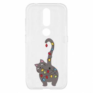 Etui na Nokia 4.2 Noworoczny kot