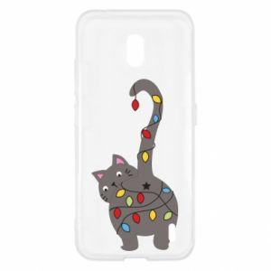 Etui na Nokia 2.2 Noworoczny kot