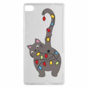 Etui na Huawei P8 Noworoczny kot