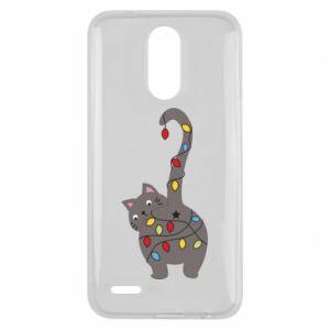 Etui na Lg K10 2017 Noworoczny kot
