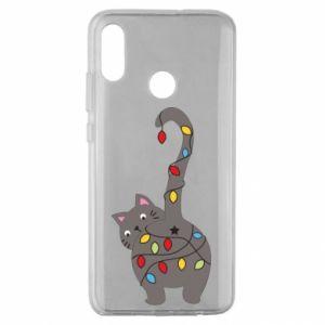 Etui na Huawei Honor 10 Lite Noworoczny kot