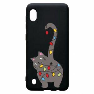 Etui na Samsung A10 Noworoczny kot