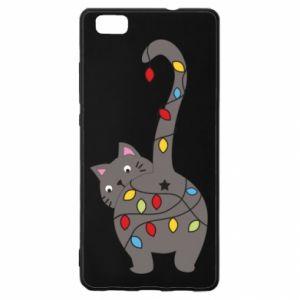 Etui na Huawei P 8 Lite Noworoczny kot