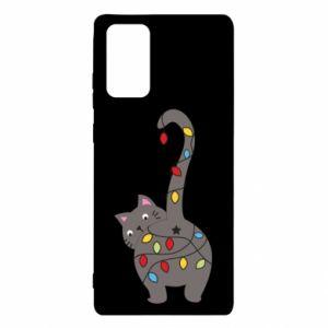 Etui na Samsung Note 20 Noworoczny kot