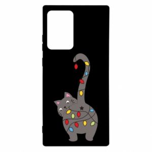 Etui na Samsung Note 20 Ultra Noworoczny kot