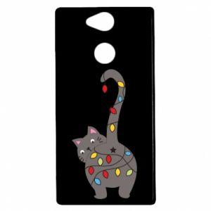 Etui na Sony Xperia XA2 Noworoczny kot