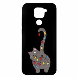Etui na Xiaomi Redmi Note 9/Redmi 10X Noworoczny kot