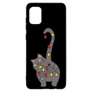 Etui na Samsung A31 Noworoczny kot