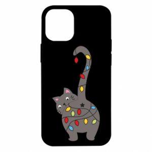 Etui na iPhone 12 Mini Noworoczny kot