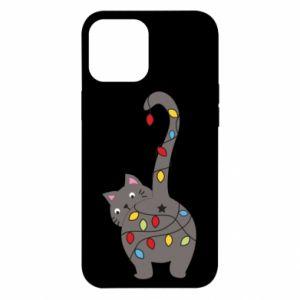Etui na iPhone 12 Pro Max Noworoczny kot