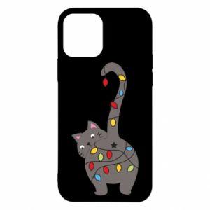 Etui na iPhone 12/12 Pro Noworoczny kot