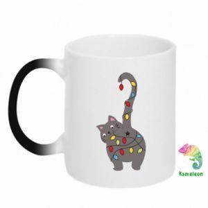 Kubek-magiczny Noworoczny kot