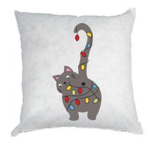 Poduszka Noworoczny kot