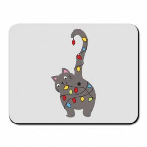 Mouse pad New Year's cat