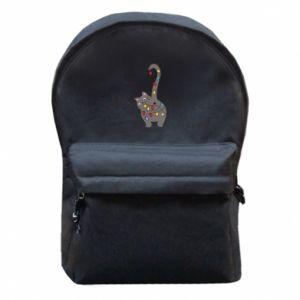 Plecak z przednią kieszenią Noworoczny kot